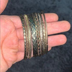 Set of Gold Bangles